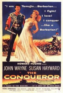 "Poster for the movie ""The Conqueror"""